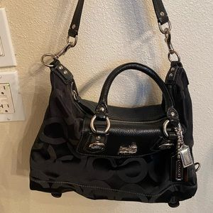 Coach Bags - Coach black adjustable hobo bag